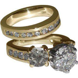 3.51 ct. Diamonds engagement set diamonds ring gol